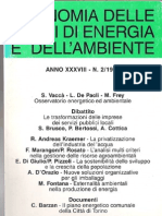 Una nuova politica industriale per il settore dei servizi pubblici locali - 1995