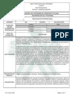 Infome Programa de Formación Tecnólogo en Negociación