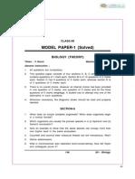 CBSE Class 12 Biology Sample Paper-07 (for 2013)