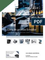 Lista de Pecios Final Siemens Industry Ecuador