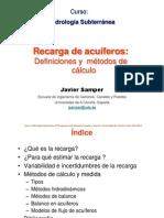17 Diciembre 2013 Hidrologia Subterrranea ICCP Estimacion de La Recarga