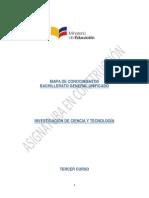 Mapa Conocimientos Investigacion de La Ciencia y La Tecnologia 160913