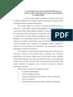 EL PAPEL DE LA FILOSOFÍA DE LA EDUCACIÓN DENTRO DE LAS CIENCIAS DE LA EDUCACIÓN COMO ESPACIO PARA