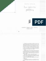 Lippman, Walter - La opinión pública. Capítulo. Introducción.