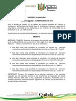 Pico y Placa Para Vehiculos Particulares en Quibd