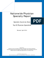 physician specialty count by state