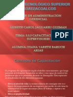 3.3.3 Capacitacion de Supervisores