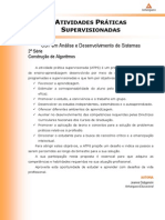 Tecnologia Em Analise e Desenvolvimento de Sistemas - Construcao de Algoritmos - Nr (a2ead370) Atividades Praticas Supervisionadas Atps 2013 2 Tads2 Construcao de Algoritmos