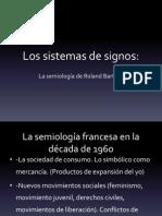 Barthes. Sistemas de Signos
