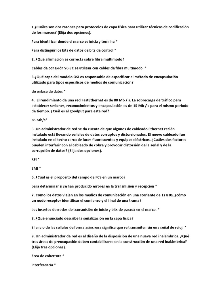 Examen Cisco Cap. 4