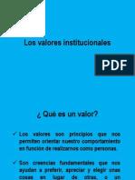 Los Valores Institucionales
