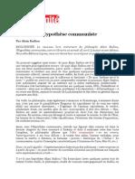 Alain Badiou Hypothese Communiste