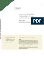 Innovations in Teaching Undergraduate Biology