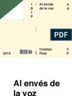Cristian Piné - Al envés de la voz