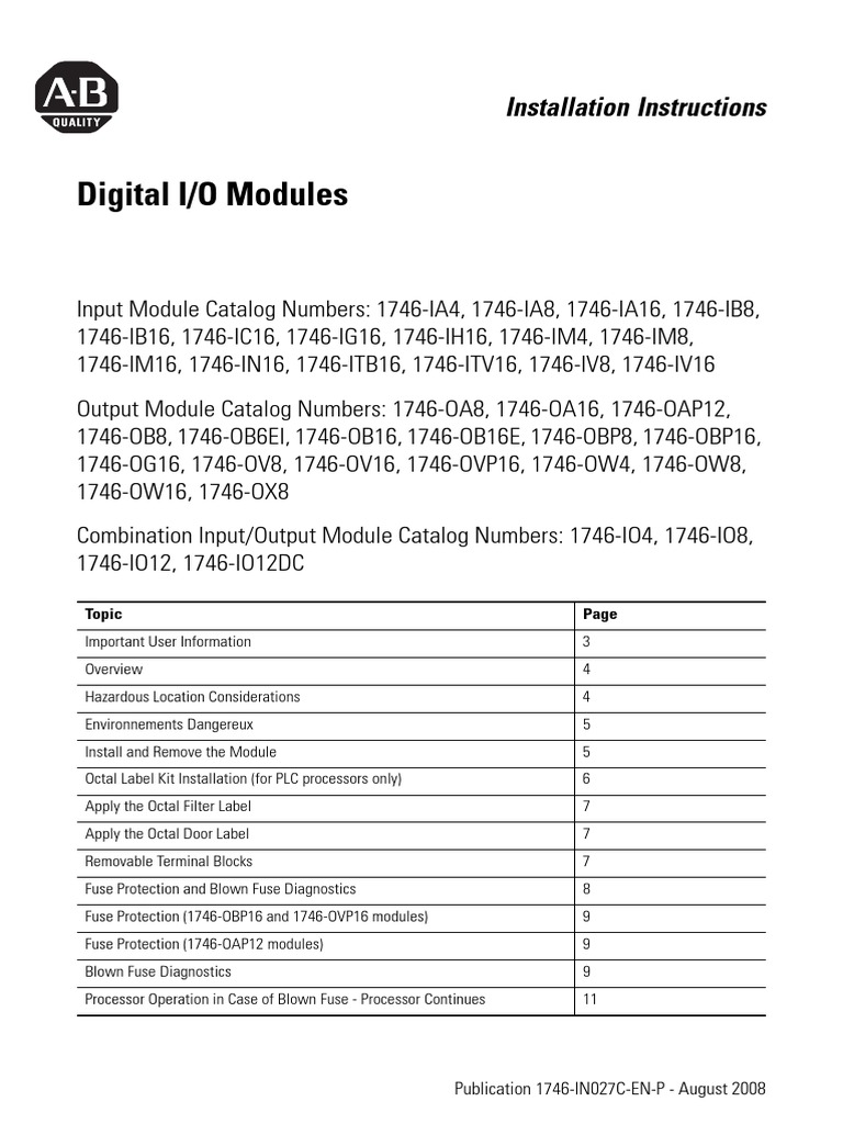 1746 Ib16 User Manual Fuse Electrical Programmable Logic Powerflex 70 Wiring Diagram Controller