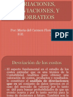 Variacion, Desviacion y Prorrateos