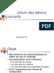 Composition Des Betons Courants