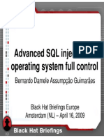 Blackhat Europe 09 Dameleag Advancedsqlinjection Slides 090420100219 Phpapp02