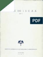 Estudos do ISCAA - Nº1, Ano 1981