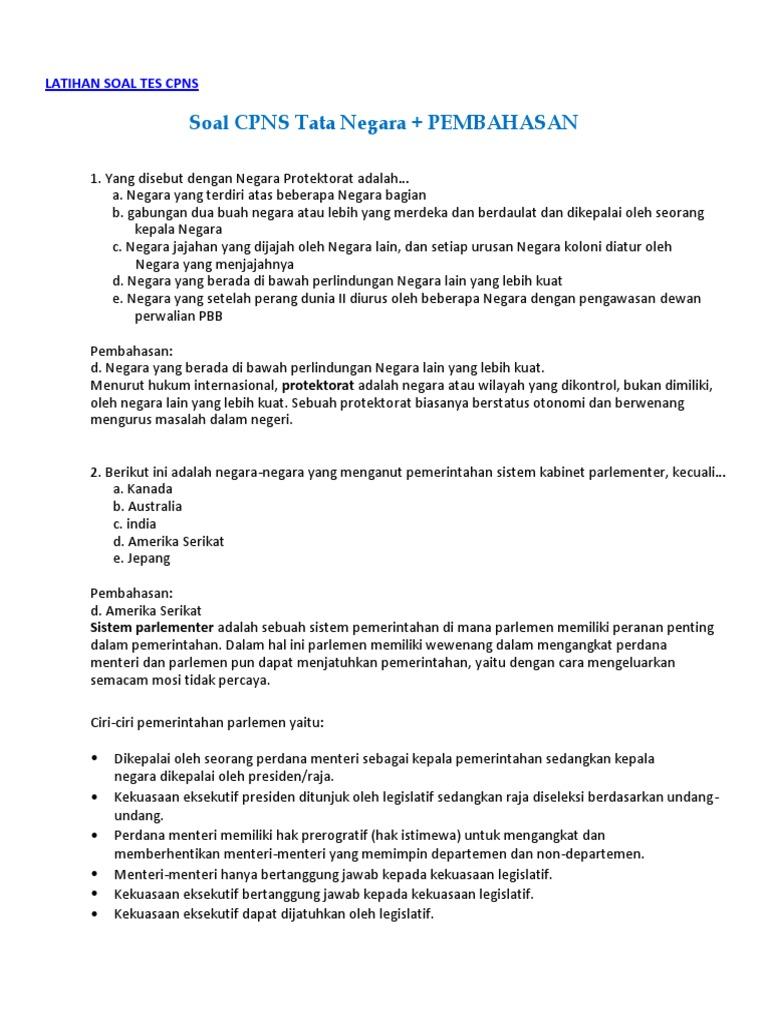 18+ Contoh Soal Tata Negara Dan Kunci PNG