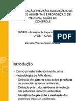 Aula 16 - IDENTIFICAÇÃO, PREVISÃO, AVALIAÇÃO DOS IMPACTOS
