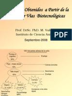 Alimentos obtenidos a partir de caña por vía biotecnologica. Dr. Miguel Valdivie