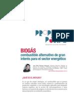 Biogás, combustible alternativo de gran interés para el sector energético