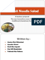 Broccoli Noodle Salad Presentation