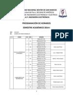 HORARIO OFICIAL DE ELECTRÓNICA 2014-1