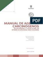 Manual de agentes carcinógenos de los grupos 1 y 2a de la iarc..