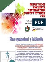 Resultados Encuesta Satisfaccion Cliente Interno 2013