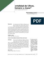 La Inmortalidad de Ulises, Entre Homero y Joyce