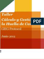 Taller Calculo Huella de Carbono 2012