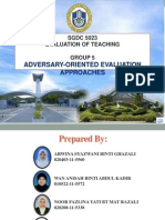 Adversary-Oriented Evaluation (2)