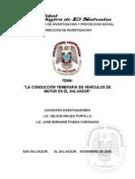 Conduccion Temeraria El Salvador UTEC.
