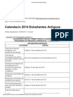 Calendario 2014 Estudiantes Antiguos