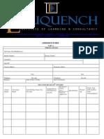 Eduquench Admission Form 1