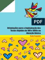 Orientações para a Implantação dos testes rápidos de HIV E SÍFILIS (MS)