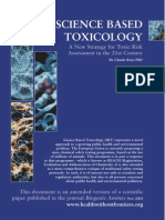 Science Based Toxicology