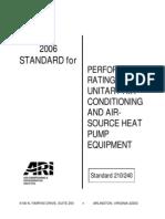 ARI Standard 210 240