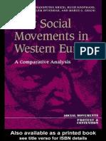 1995 Kriesi Koopmans Giugni NSM Western Europe Minnesota Book