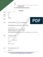 11 Mathematics Conic Section Test 05 Answer 99uh