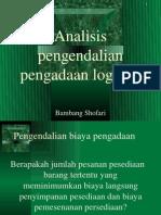 Analisis Pengendalian Pengadaan Logistik - Bambang Shofari