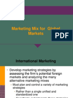 Marketing Mix for Global Markets Final