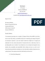 sample covering letter