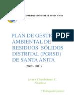 Nuevo Plan de Residuos Solidos 2009