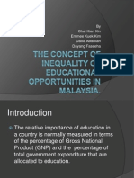 The Concept of Inequality of Educational Opportunities in Malaysia