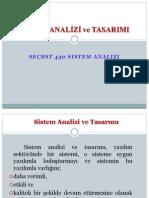 Sistem Analizi ve Tasarımı - 1.Hafta