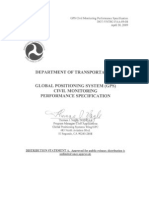 GPS Civil Monitoring Performance Specification