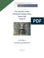 Asian Efl Journal January 2012 Asian EFL Journal Professional Teaching Articles. Vol. 57 January 2012
